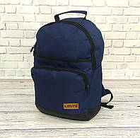Прочный мужской, женский рюкзак Levis, левис. Городской. Синий с черным