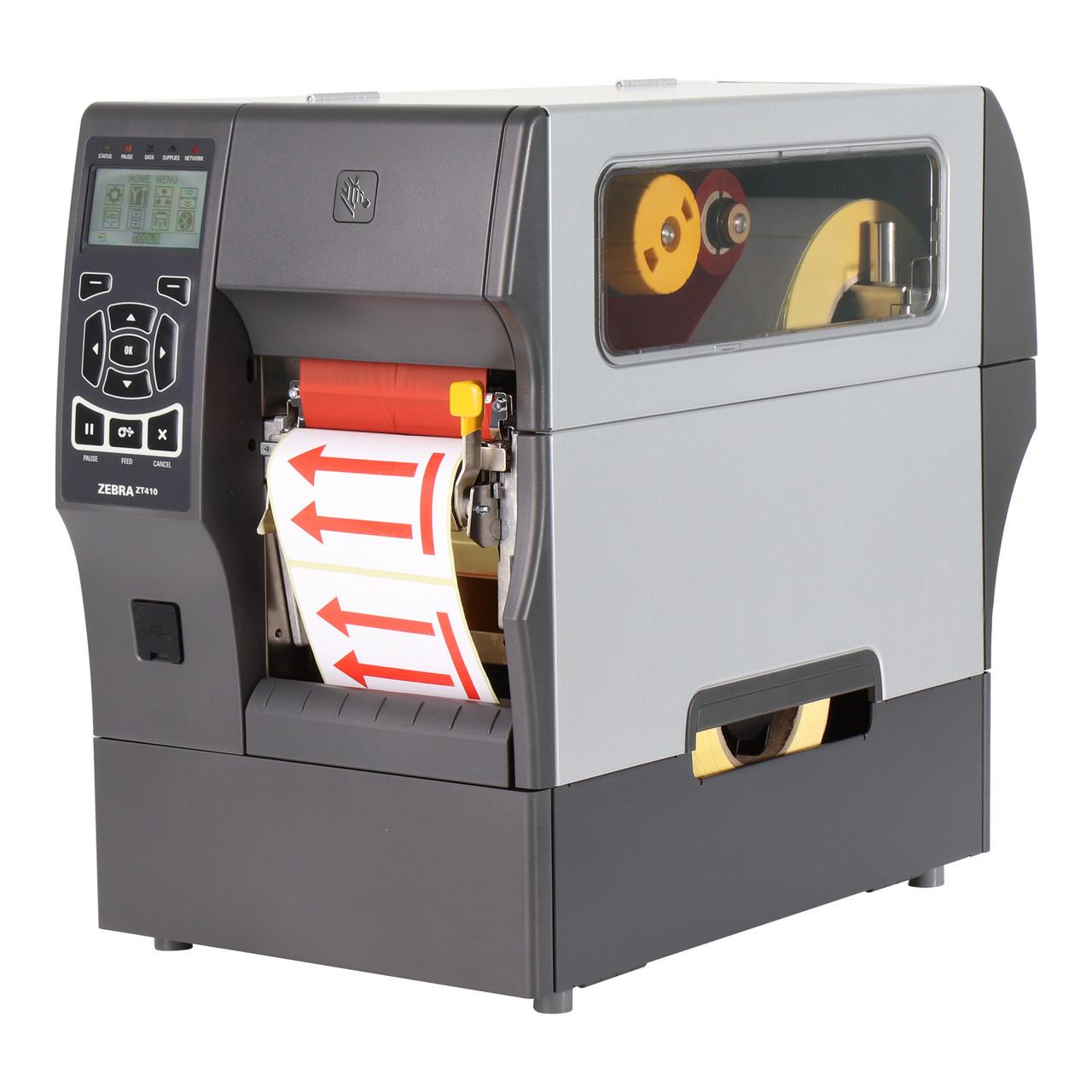 Промышленный термотрансферный принтер этикеток Zebra ZT410 203dpi с отделителем (ZT41042-T4E0000Z)
