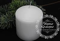 Белая свеча-цилиндр Bispol 80/90 мм