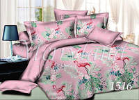 Комплект постельного белья Фламинго Merryland поплин Семейный 1516
