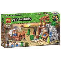 """Конструктор Bela 11137 (Аналог Lego Minecraft) """"Погоня""""303 детали"""