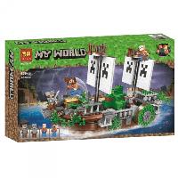 """Конструктор Bela 11139 (Аналог Lego Minecraft) """"Сражение на корабле""""630 деталей"""