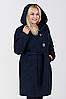Пальто женское №57 (синий) ботал