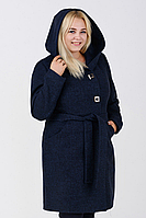 Пальто женское №57 (синий) ботал, фото 1