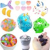 Набор шармиков для слаймов (24 шт.) – для украшения слайма, slime charms, шарм в слайм