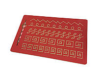Червоний тренажер для письма - Візерунок