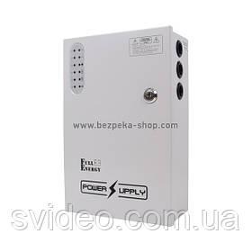 Блок бесперебойного питания BBG-1210/8 для видеонаблюдения 12В, 10А, под 18Ач аккумулятор