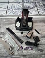 Машинка для стрижки, триммер, электробритва Gemei GM 592 10в1 черно-красная