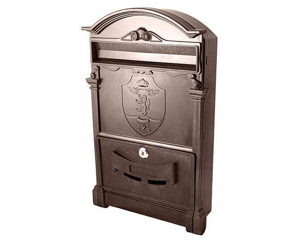 Почтовый ящик VITA коричневый Герб Лев, фото 2