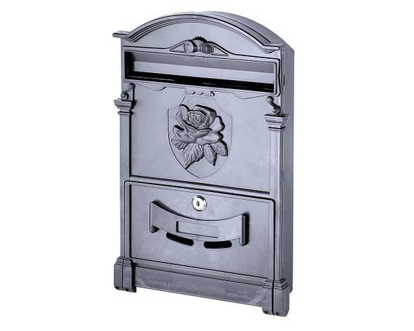 Почтовый ящик VITA чёрный Герб Роза, фото 2