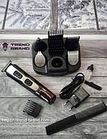 Машинка для стрижки, триммер, электробритва Gemei GM 592 10в1 черно-стальная