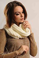 Женский вязаный снуд-шарф (Конверт ri)