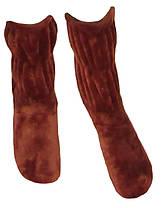 Сапожки женские домашние махровые 18205-1 вельсофт коричневые 36-38
