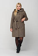 """Женское пальто с капюшоном ,,Глория"""" размер 44-52 р . Ботал с утеплителем ."""