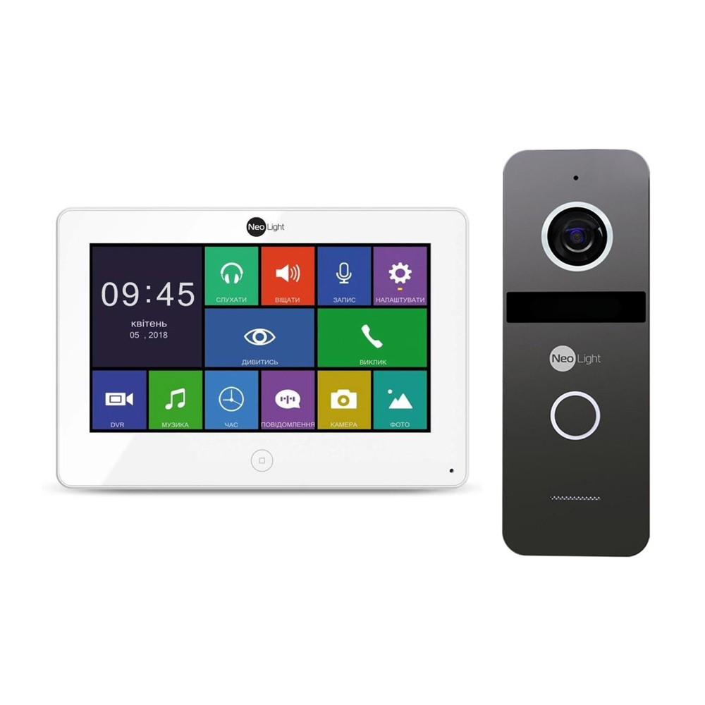 Комплект цветного видеодомофона NeoLight Alpha HD / Solo FHD Graphite