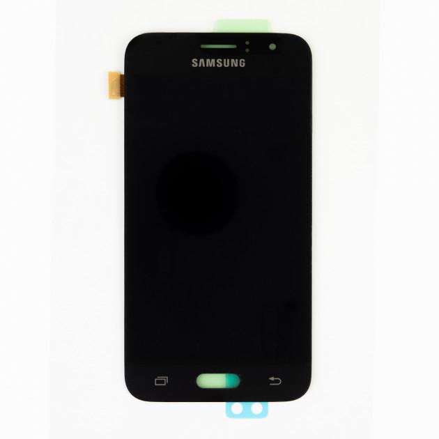 Дисплей (LCD) Samsung GH97-18224C J120H Galaxy J1 (2016) с сенсором чёрный сервисный
