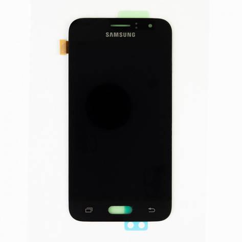 Дисплей (LCD) Samsung GH97-18224C J120H Galaxy J1 (2016) с сенсором чёрный сервисный, фото 2
