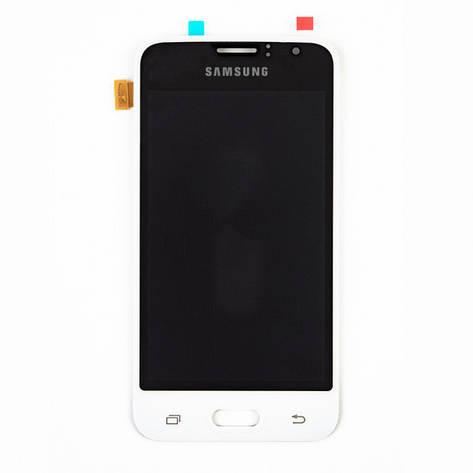 Дисплей Samsung J120 Galaxy J1 2016, с тачскрином, OLED, White, фото 2