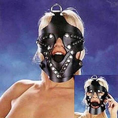 Черный намордник с кляпом 3,5 см, фото 2