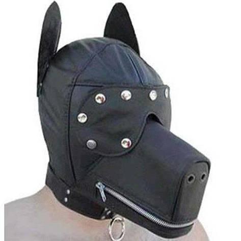 Черный намордник в форме собаки, фото 2