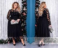 Платье вечернее 602 с евросеткой 50-60