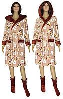 NEW! Заказывайте женские наборы - махровый халат и сапожки в подарок - серия Совы ТМ УКРТРИКОТАЖ!