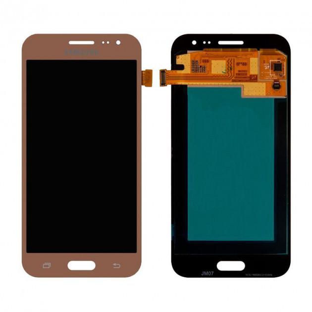 Дисплей (LCD) Samsung J200F Galaxy J2/  J200H TFT (подсветка оригинал) с сенсором золотой