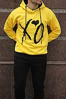 Мужской Худи зимний желтый с надписями