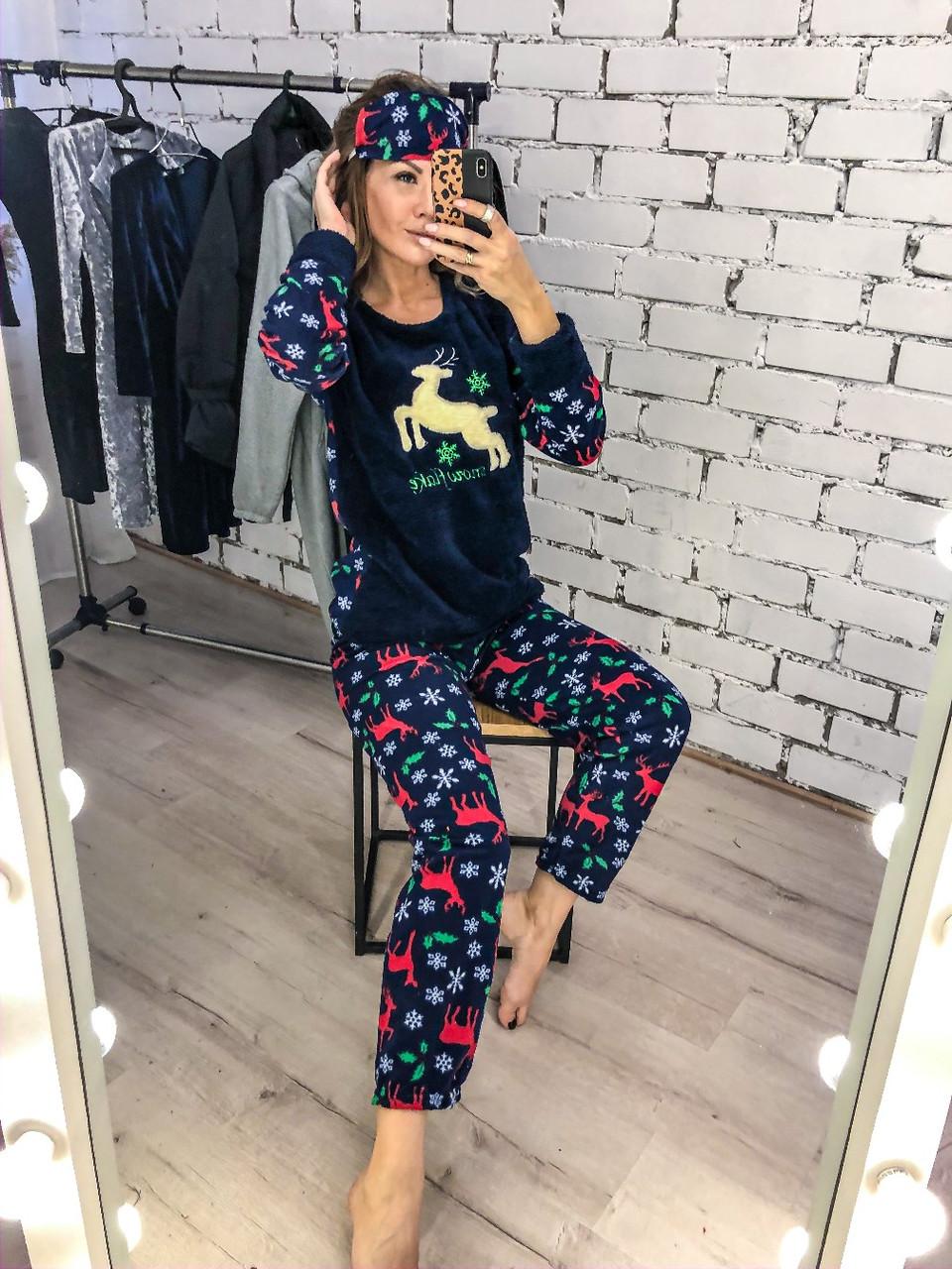 Пижама теплая плюшевая  04д7065