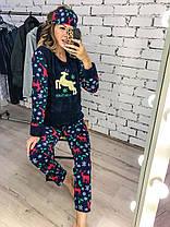 Пижама теплая плюшевая  04д7065, фото 3