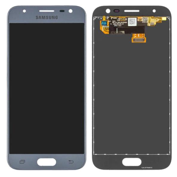 Дисплей (LCD) Samsung J330 Galaxy J3 (2017) с сенсором серебро