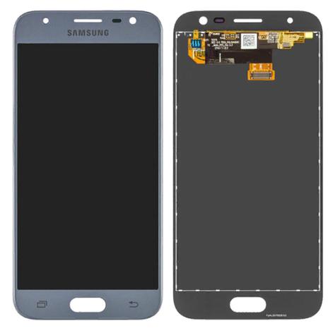 Дисплей (LCD) Samsung J330 Galaxy J3 (2017) с сенсором серебро, фото 2