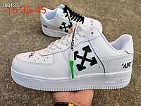 """Кроссовки Nike Air Force 1 Low Off-White """"White/Black"""" (Белые/Черные"""