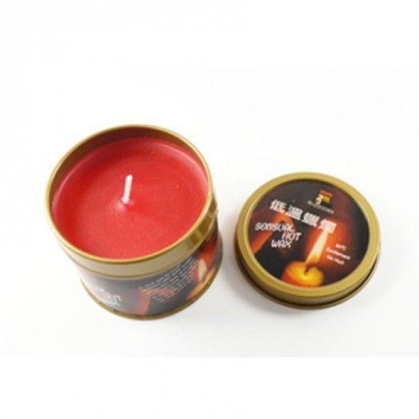 Красная бдсм свеча низкая температура / чувственные горячий воск свечи