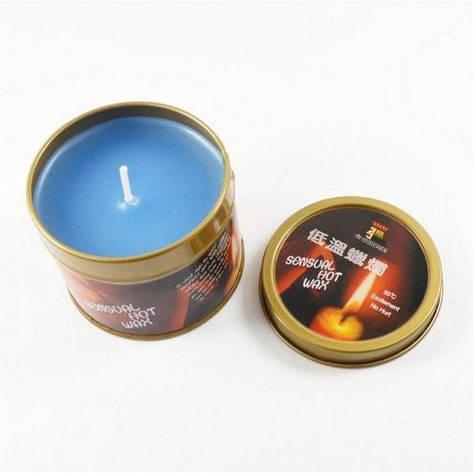 Голубая бдсм свеча низкая температура / чувственные горячий воск свечи, фото 2