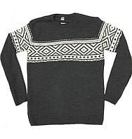 Теплый мужской свитер, размеры: 56, 58, 60, цвет - серый