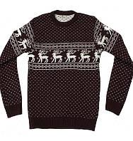 Детский теплый свитер, размеры: 36, 38, цвета - темно-синий, бордовый