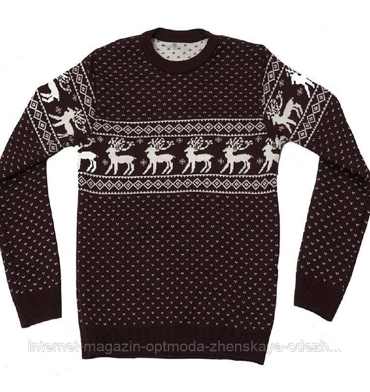 Подростковый теплый свитер, размеры: 42, 44, 40, цвета -  темно-синий, бордовый
