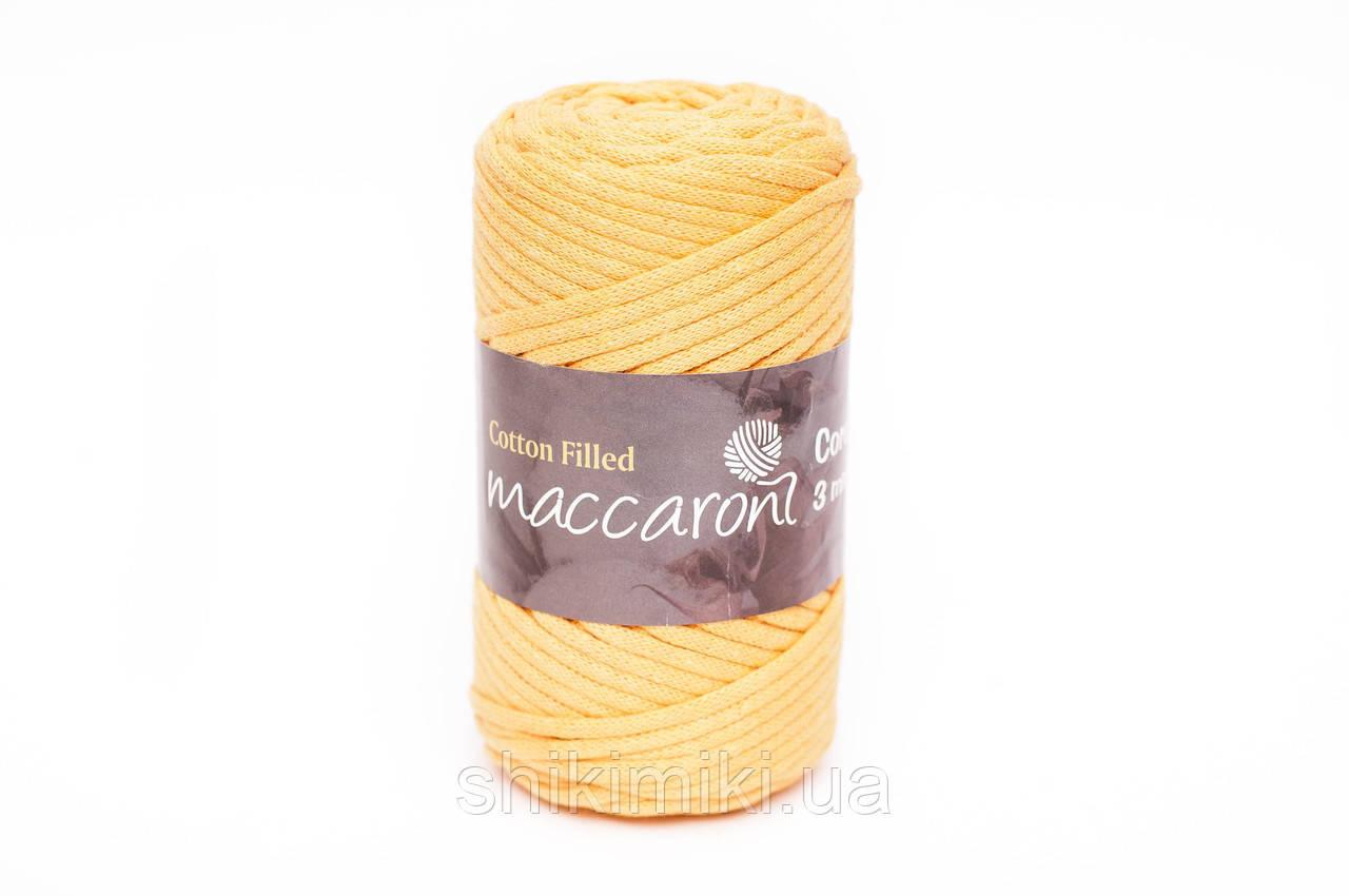 Трикотажный хлопковый шнур Cotton Filled 3 мм, цвет Желтый