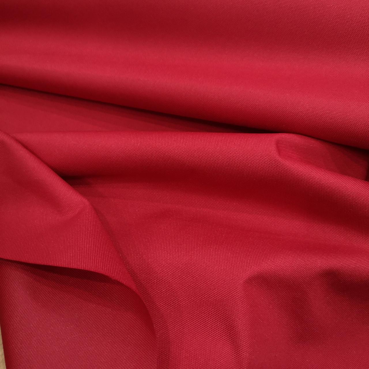 Ткань оксфорд 600d PU (полиуретан) красный