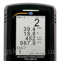 Регистратор формальдегида, углекислого газа и качества воздуха PCE-AQD 20 (Германия), фото 2