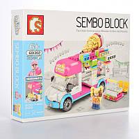 "Конструктор Sembo 601302 ""Фургон с мороженым"" 264 детали"
