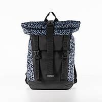 Рюкзак ручна поклажа HARVEST AVIAROLLTOP леопардовий сірий 40x25x15см. 17 л. роллтоп