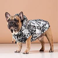 Одежда для собак, Теплый, непромокаемый  жилет из мембраны Snow Leopard. Для французских бульдогов и  мопсов