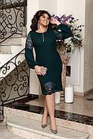 Платье вечернее 3021 с сеткой 50-60
