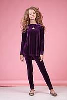 Zironka Костюм (туника, леггинсы) фиолетовый для девочки 64-8039-6