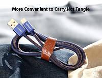 Ugreen TYPE C качественный USB кабель 2 м тканевая обмотка Быстрая зарядка  позолоченным Type-C