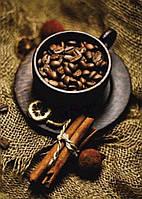 Алмазная вышивка кофе с корицей,кофейный напиток,полная выкладка, ,мозаика 5d, наборы 30х40 см