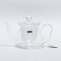 "Стеклянный заварник для чая ""Гламур"" Chikao 600 мл"