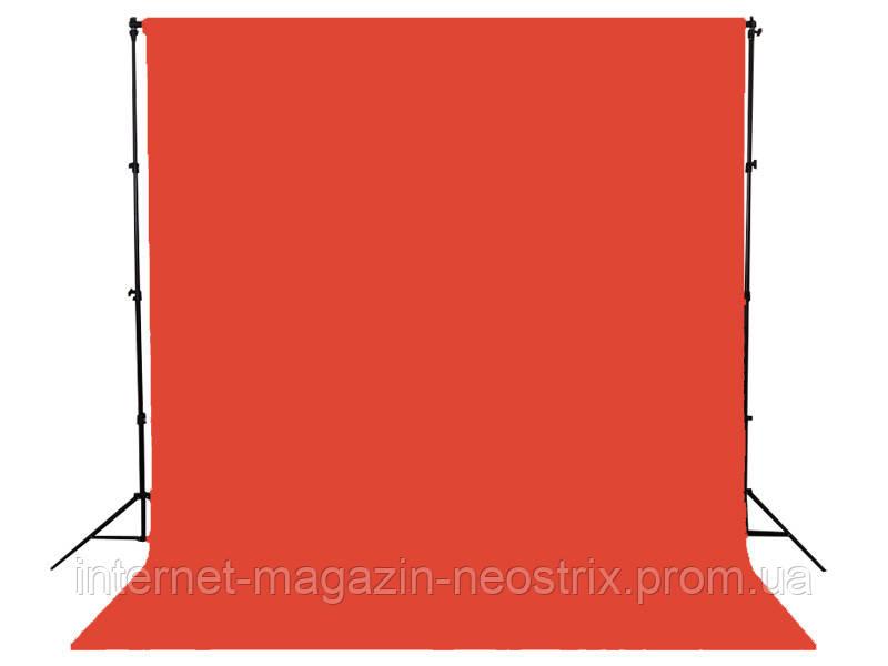 Студийный бумажный фон Visico 2,72х10 м (красный) 013 FLAME RED